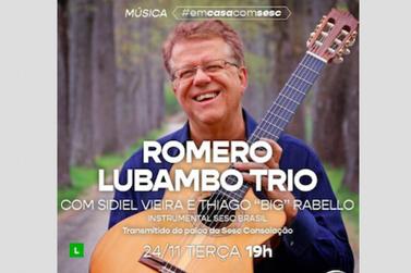 Romero Lubambro traz Jazz em live do Sesc, às 19h