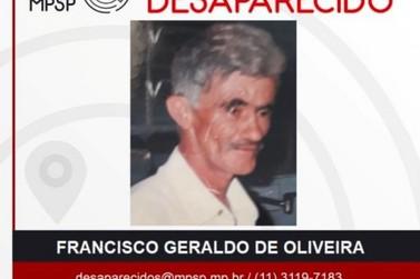 Francisco Geraldo de Oliveira, de 73 anos, está desaparecido há mais de um mês