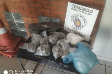 Homem é preso com mais de três quilos entre maconha e cocaina em mochila