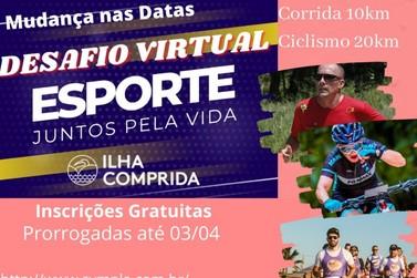 """Inscrições  para o desafio virtual """"Esporte! Juntos pela vida"""" foram prorrogadas"""