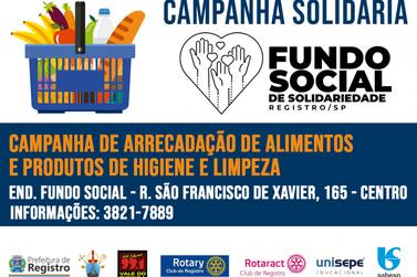 FSS promove campanha de arrecadação de alimentos e produtos de limpeza e higiene