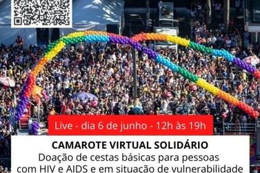 Camarote Virtual Solidário arrecada cesta básica para pessoas com HIV/Aids