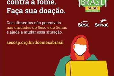 Campanha de arrecadação de alimentos do SESC SP amplia coleta com o SENAC SP