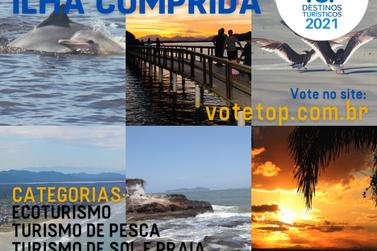 Ilha Comprida concorre em três categorias do prêmio Top Destinos Turísticos
