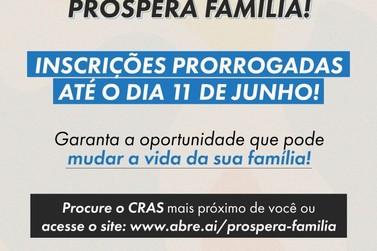 Registro prorroga até 11 de junho as inscrições para o Programa Prospera Família