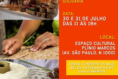 Feira de Artesanato Solidária termina neste sábado na Ilha Comprida