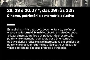 """Pontos Mis e Ilha anunciam Oficina """"Cinema, patrimônio e memória coletiva"""""""