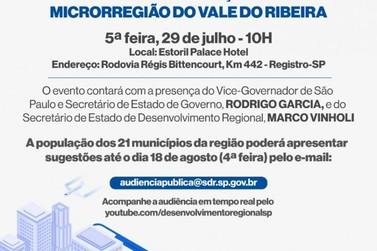 Vice-governador, Rodrigo Garcia, estará em Registro nesta quinta-feira (29)