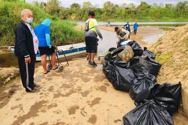 1ª Remada Ecológica garante a retirada de mais de 200kg. de lixo do Rio Ribeira