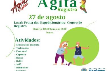 Esporte e Saúde promovem Agita Registro nesta sexta-feira (27)