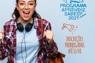 Inscrições para Programa Aprendiz da Sabesp são prorrogadas até dia 11