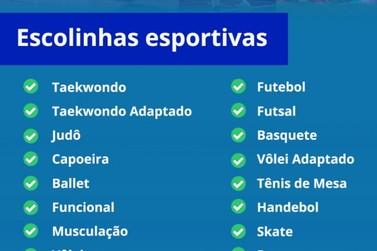 Secretaria de Esportes está com inscrições abertas para diversas modalidades