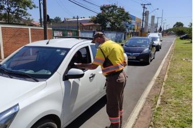 Vigias patrimoniais e agentes de trânsito fazem barreira sanitária