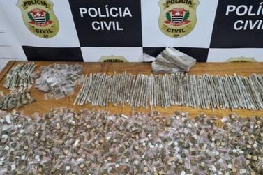 Grande quantidade de drogas é encontrada no Santa Eliza