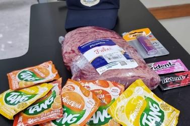 Homem tenta furtar mercadorias em Supermercado do Chervezon