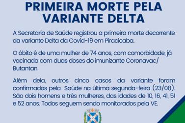 Piracicaba tem primeira morte por variante Delta em SP, diz prefeitura