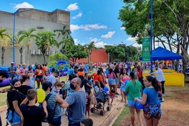 Festa reuniu milhares de  crianças no Lago Azul