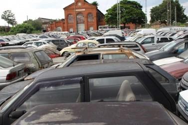 Leilão de 546 veículos do pátio de Campinas começa nesta terça