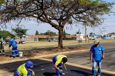 Prefeitura implanta quatro  lombadas em bairros