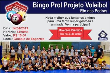 Bingo Prol Projeto Voleibol de Rio das Pedras é neste Domingo (14)