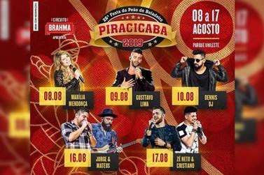 26° Festa do Peão de Boiadeiro de Piracicaba, começa no dia 08 de agosto