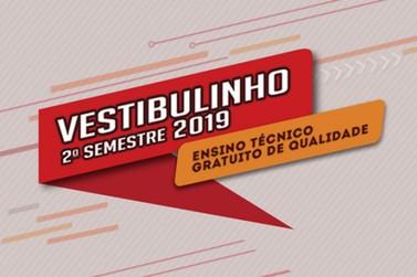 Atenção para a 1ª chamada das matrículas - Vestibulinho 2º Semestre 2019