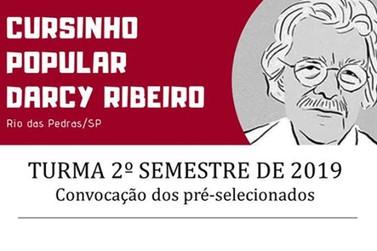 Cursinho Popular Darcy Ribeiro divulga lista dos pré-selecionados