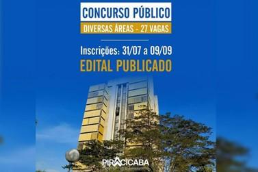 A Prefeitura de Piracicaba anuncia a abertura de mais um concurso público
