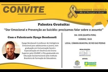 Câmara Municipal realiza palestra gratuita nesta quarta-feira (25/09)