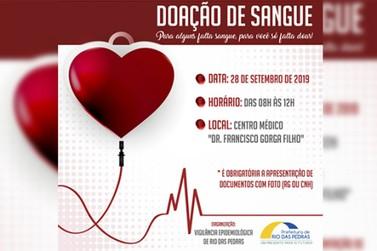 Rio das Pedras fará campanha de doação de sangue neste Sábado (28/09)