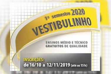 Inscrições para o Vestibulinho Etec 2020 vai até dia 12/11 às 15h