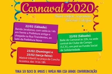 Carnaval terá atrações para toda família em Rio das Pedras