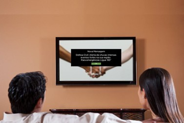 Notificações de possíveis desastres naturais aparecerão em TVs por assinatura
