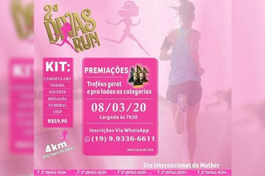 Vem aí 2ª Divas Run, em comemoração ao Dia Internacional da Mulher