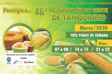 46° Festa do Milho Verde de Tanquinho contará com diversas atrações