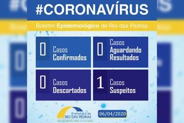 Rio das Pedras tem seu 1º caso suspeito do coronavírus