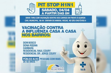 Secretaria de Saúde continua com vacinação contra H1N1 neste Sábado (04/04)