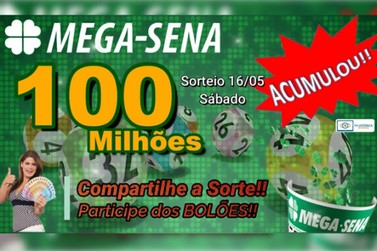 Mega-Sena acumulada pode pagar prêmio de R$ 100 milhões neste Sábado (16)