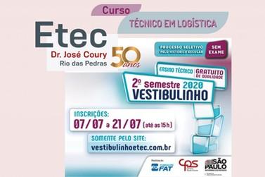 ETEC: Inscrições para o 2º semestre de 2020
