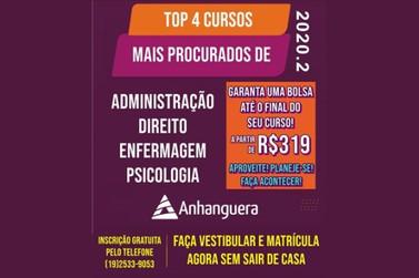 Cursos Presenciais Faculdade Anhanguera de Piracicaba, confira!