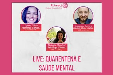 Rotaract Club de Rio das Pedras promove Live: Quarentena e Saúde Mental
