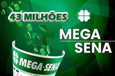 Mega-Sena acumulada sorteia R$ 43 milhões nesta quarta (23)