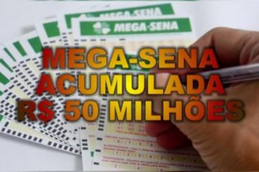 Sorteio da Mega-Sena acumulada em R$ 50 milhões é neste sábado (26)