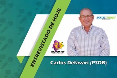Carlos Defavari é o terceiro candidato a Prefeito a ser entrevistado