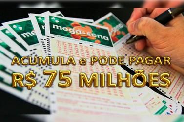 Mega-Sena sorteia prêmio de R$ 75 milhões neste sábado