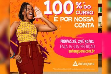 Faculdade Anhanguera de Piracicaba oferece bolsa de estudo 100%
