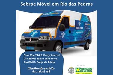 De 23 a 26/02, Sebrae Móvel estará em Rio das Pedras
