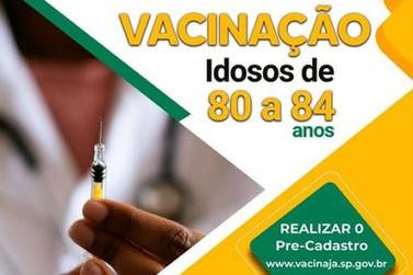 Idosos de 80 a 84 anos começam a ser vacinados nesta segunda (01/03) em RDP