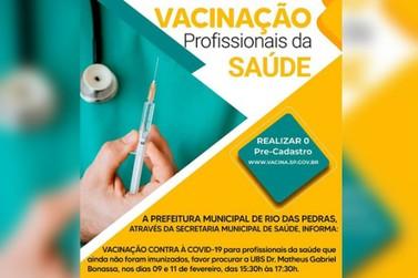 Para profissionais da saúde que ainda não foram imunizados. Atenção!