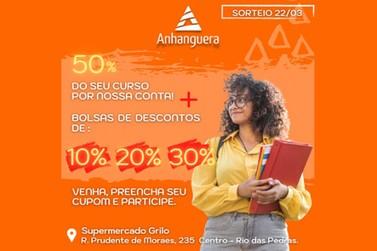 Quer ganhar bolsa de desconto para estudar em Rio das Pedras?